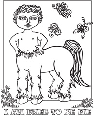 Gender Now Coloring - Centaur