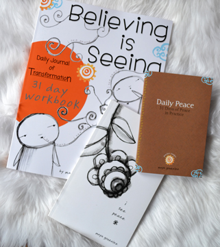 3 Book Set: Believing is Seeing Workbook, i see peace, & Daily Peace pocket reader