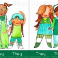 Sample Spread from They She He Me: Free to Be!