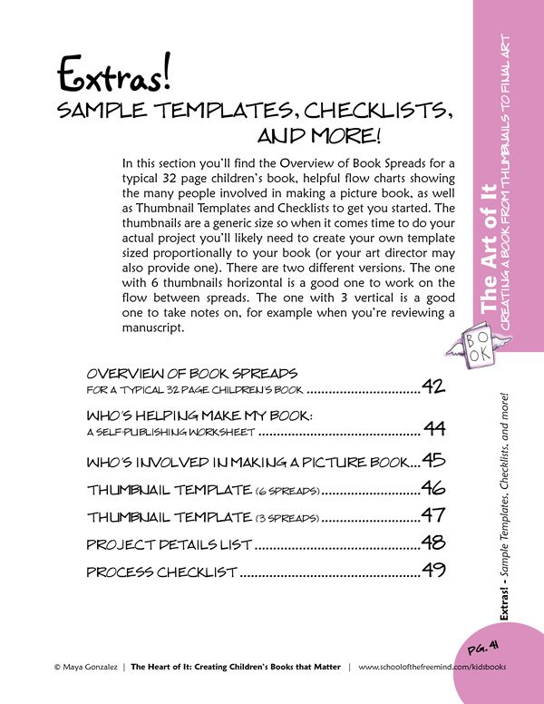 Sample Extras Page from The Art of It Workbook