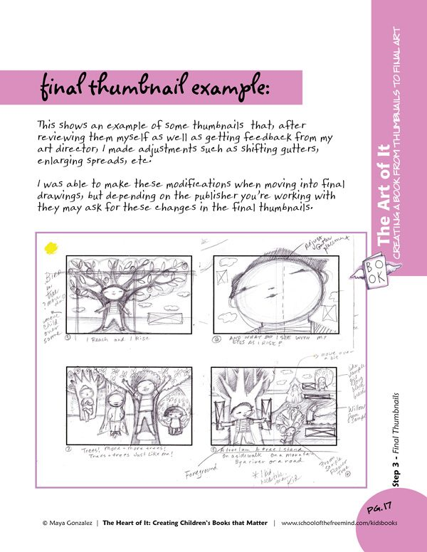 Sample Final Thumbnail Examples from The Art of It Workbook