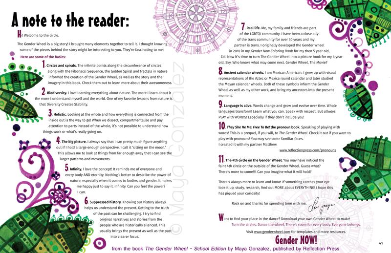 The Gender Wheel School Edition Reflection Press